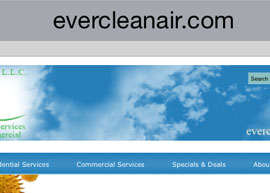 Ever Clean Air Website